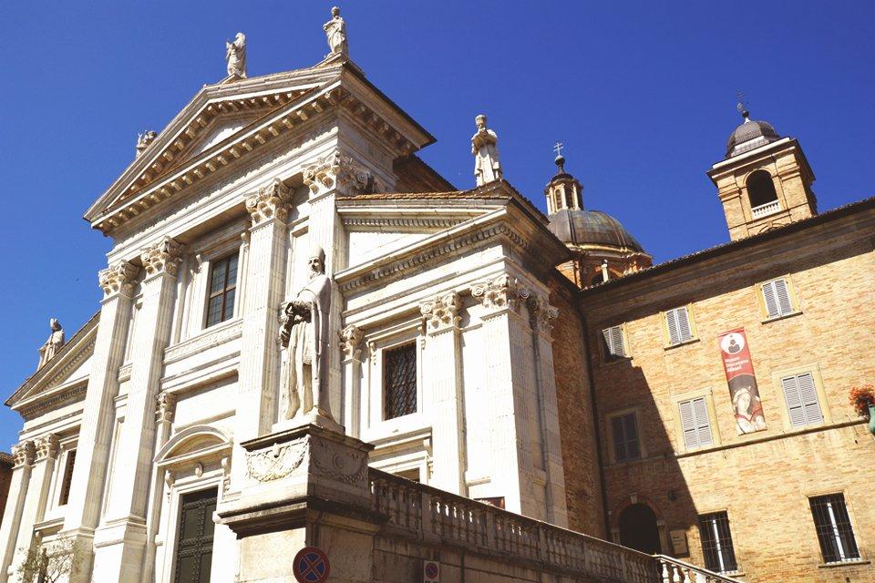 Urbino in de Marken, Italië