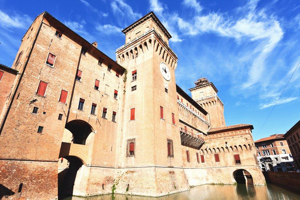 Kasteel van Ferrara, Emilia-Romagna, Italië
