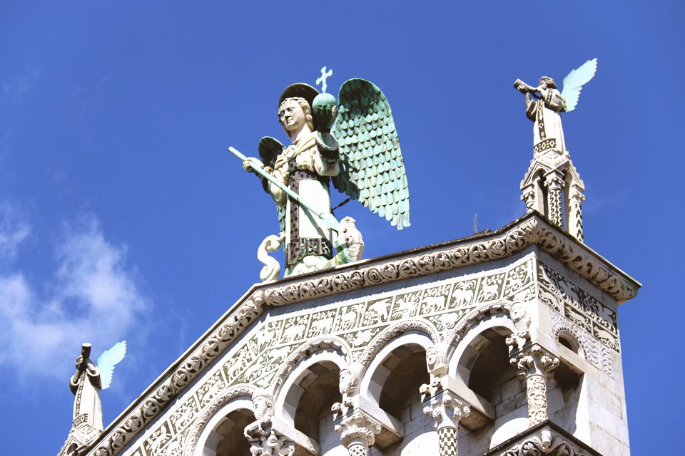 San Michele in Foro in Lucca, Toscane, Italië