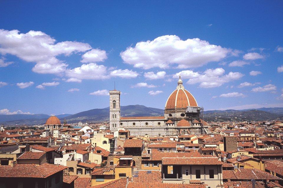 Zicht op Florence, Toscane, Italië