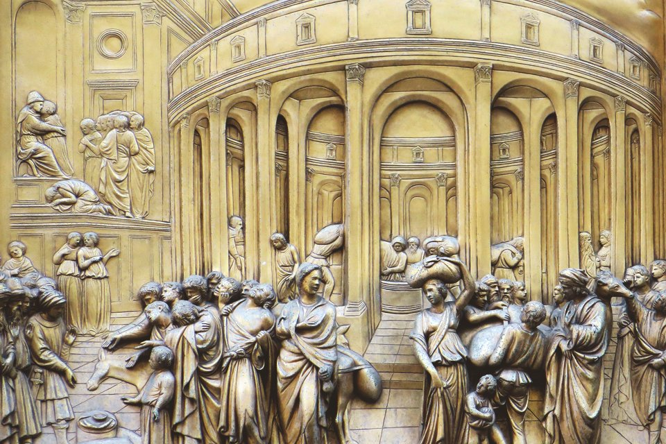 Baptisterium in Florence, Toscane, Italië