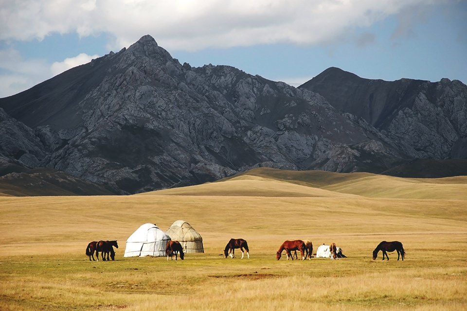 Platteland, Kirgizië