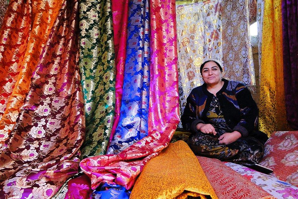 Stoffen, Oezbekistan