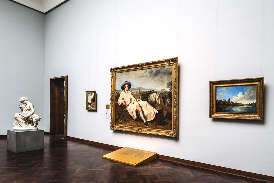 Schilderij van Goethe in het Städel Museum in Frankfurt am Main, Duitsland