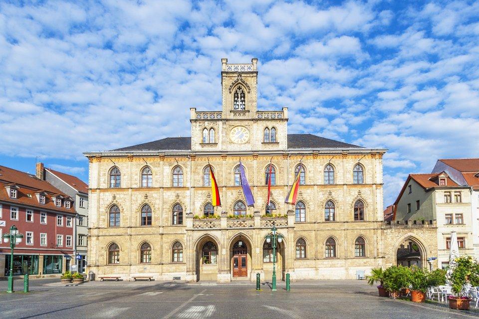 Stadhuis in Weimar, Duitsland