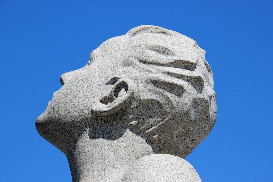 Werken van Gustav Vigeland in Frognerpark in Oslo, Noorwegen