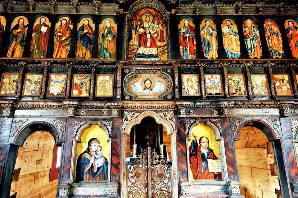 Houten kerk Bardejov, Slowakije