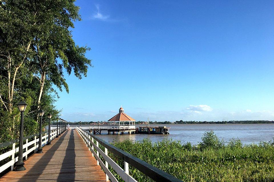 Pier in Paramaribo, Suriname