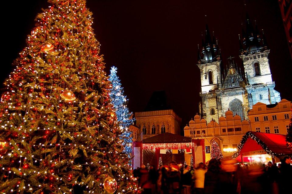 Kerstboom Praag, Tsjechië