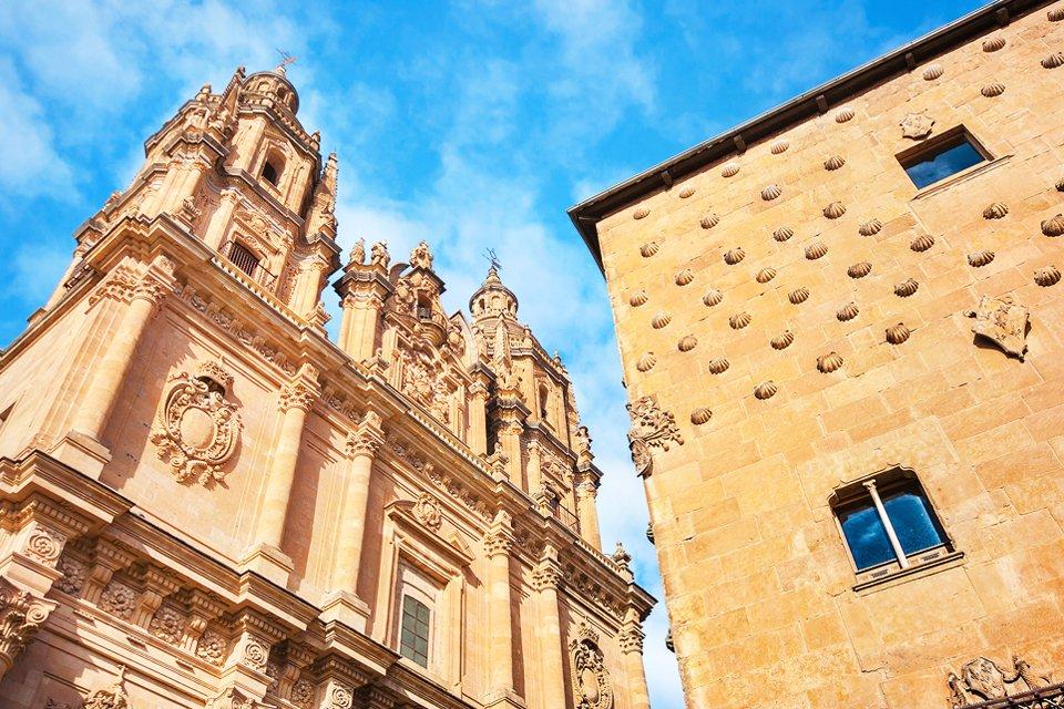 Huis met de schelpen in Salamanca, Spanje