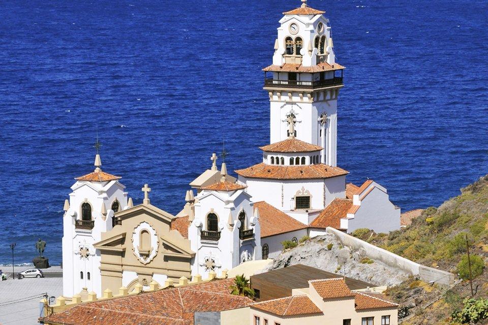 Onze lieve vrouwe-basiliek in Candelaria op Tenerife, Spanje