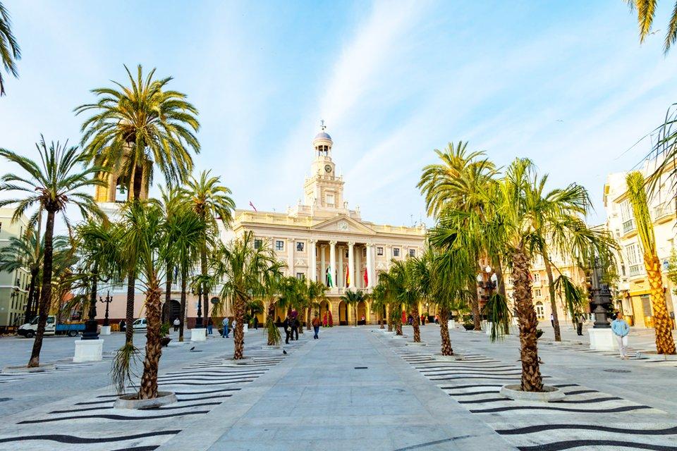 Centraal plein in Cádiz, Spanje
