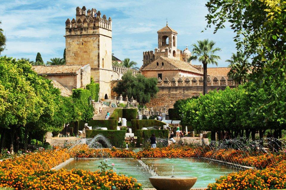Het alcázar in Córdoba, Spanje