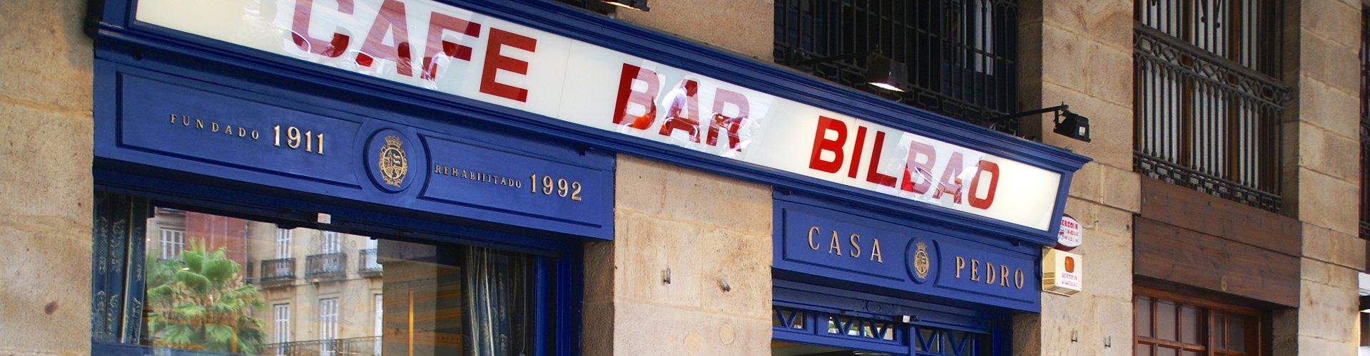 Kunst in Bilbao bar, Spanje