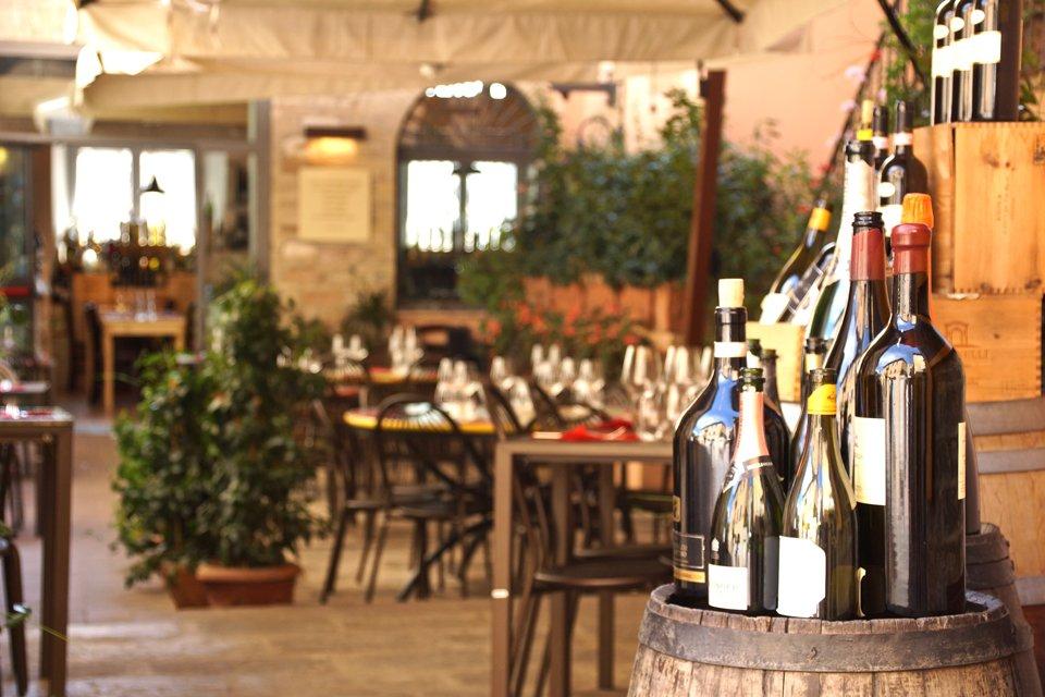 Restaurant in Assisi, Italië