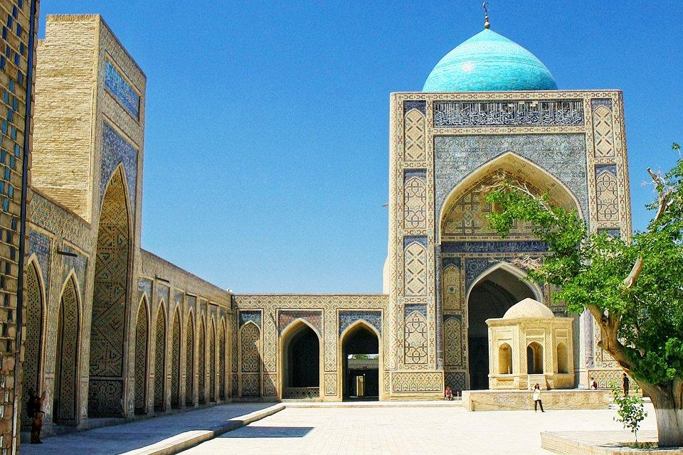 Het Registanplein in Samarkand, Oezbekistan