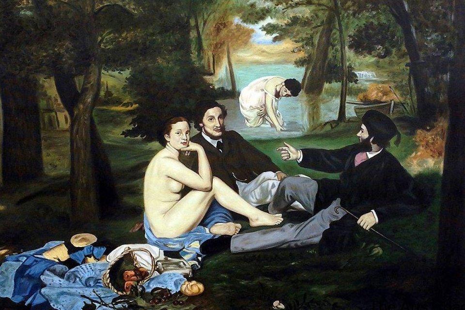 Déjeuner sur l'Herbe van Manet, Frankrijk