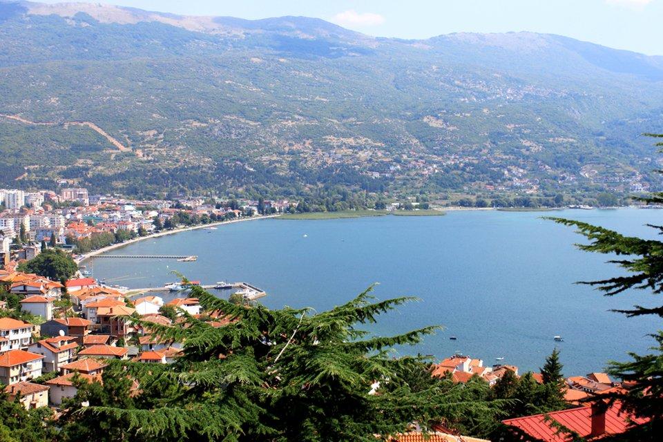 Ohrid aan het gelijknamige meer, Macedonië