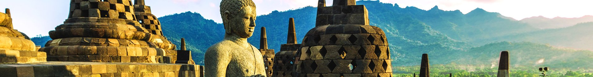 Borobudur op Java, Indonesië