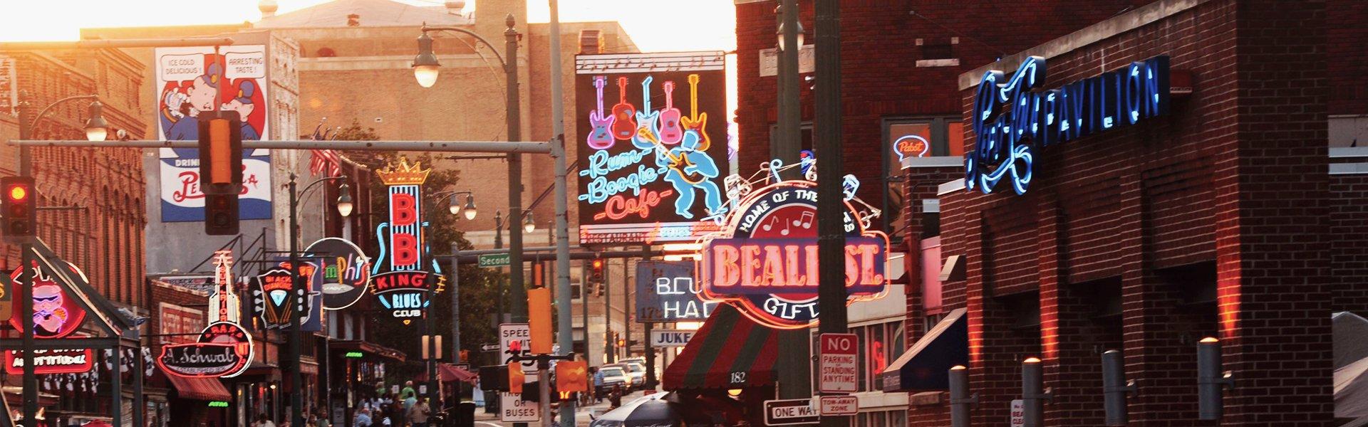 Baele street in Memphis, Amerika