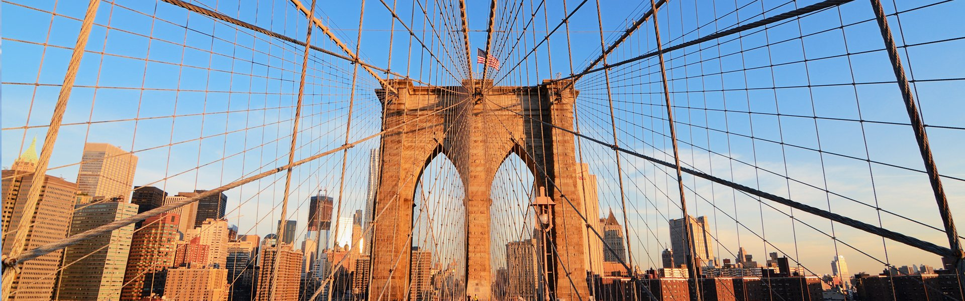 Brooklyn bridge in New York, Amerika