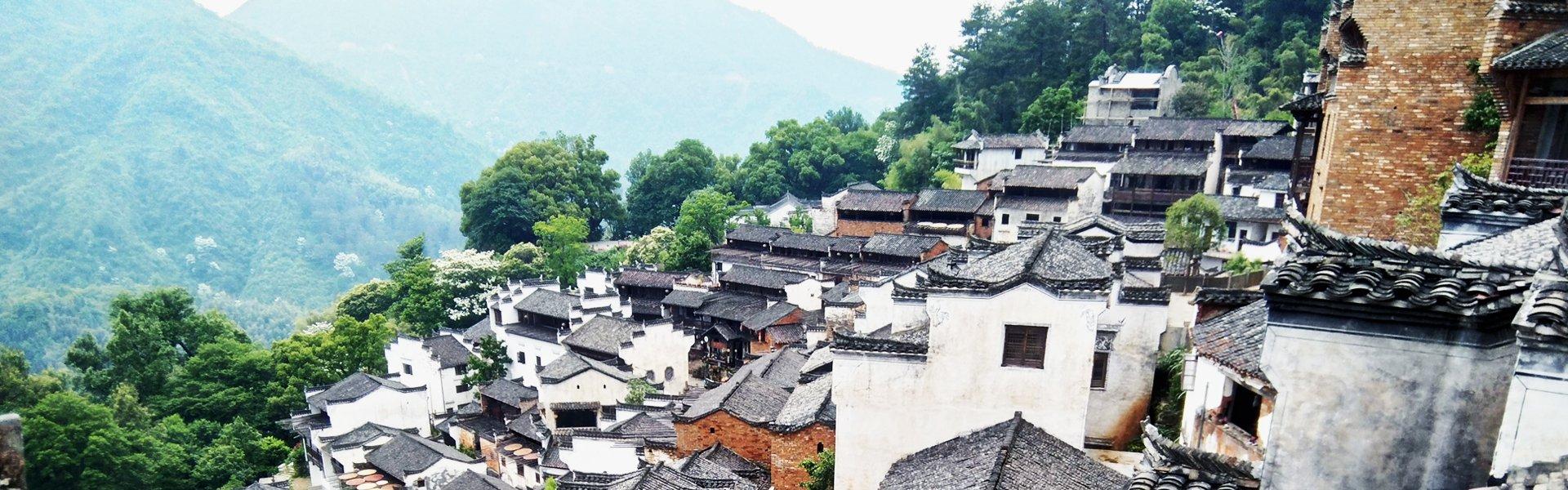 Witte dorpen nabij Wuyuan, China