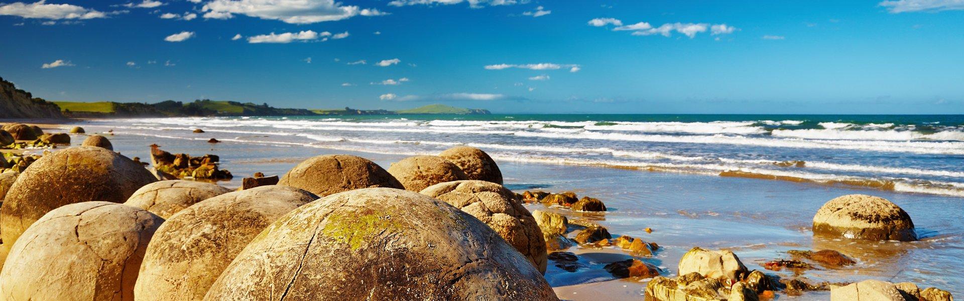Moeraki boulders, Nieuw-Zeeland