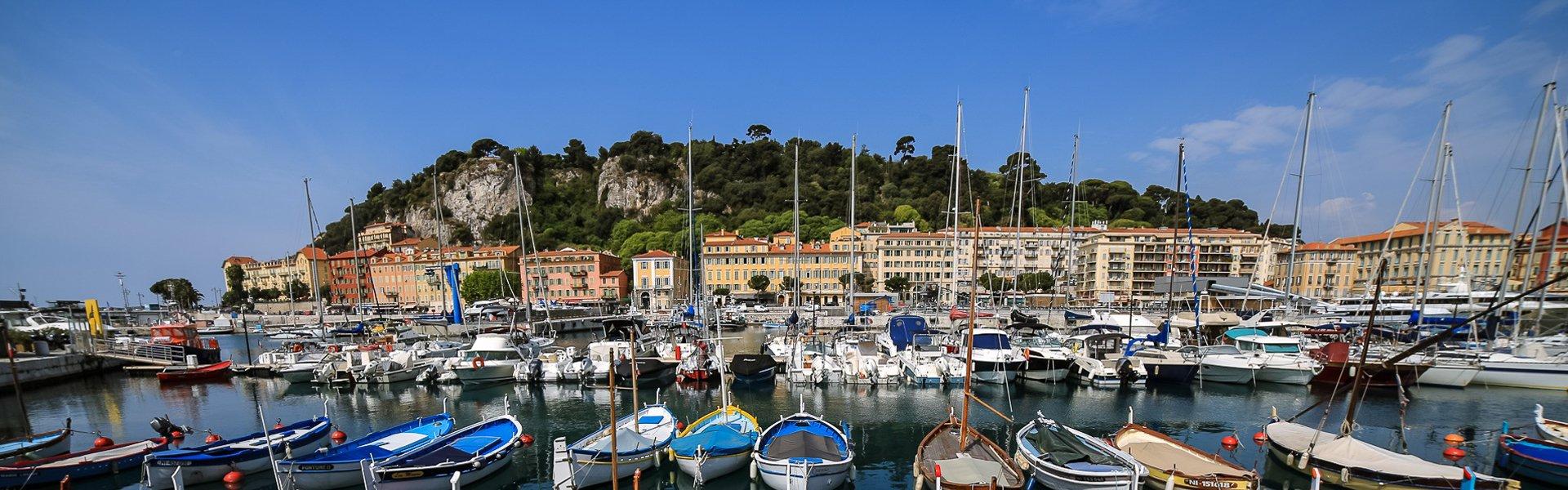 Oude haven van Nice, Frankrijk