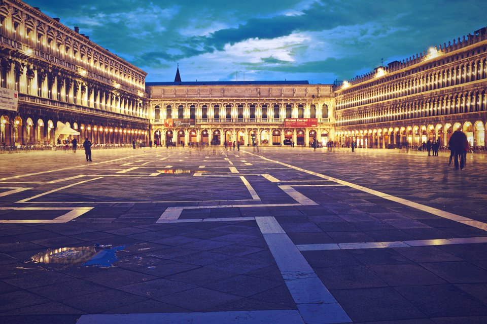 San Marcoplein in Venetië, Italië