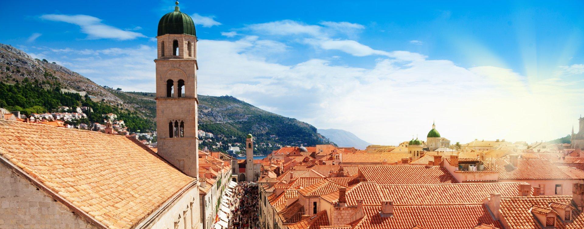 Zicht op Dubrovnik, Kroatië