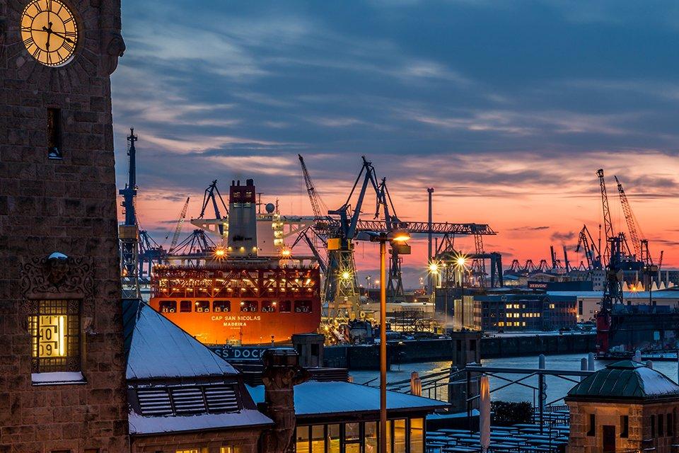 HafenCity in Hamburg, Duitsland