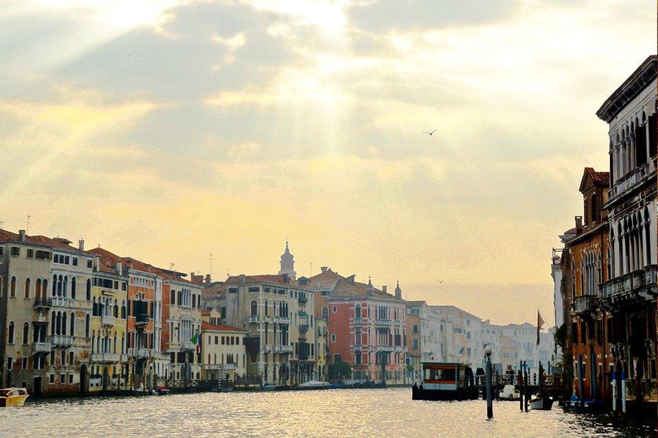 Het Canal Grande in Venetië, Italië