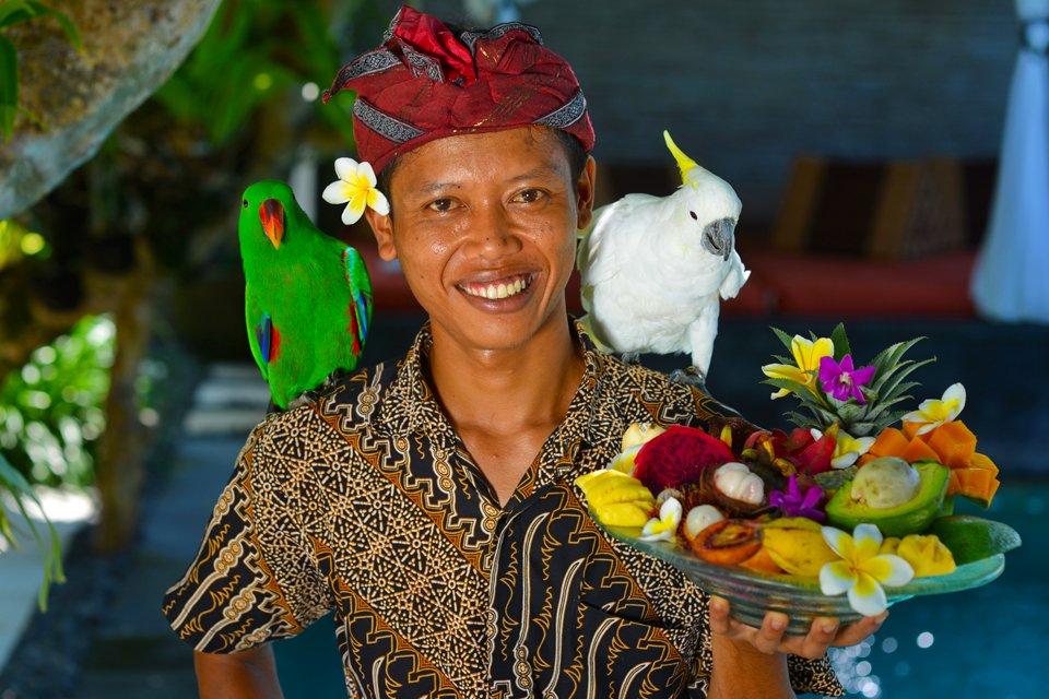 De hartelijke bevolking op Bali, Indonesië