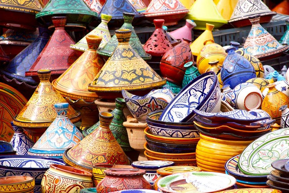 Tajjines in de soek, Marokko