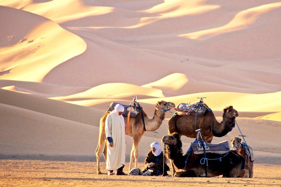Woestijn bij Erg Chebbi, Marokko