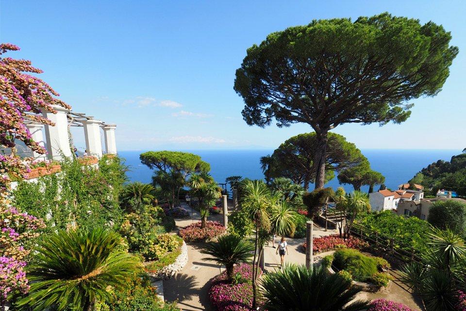 Tuin in Ravello, Amalfikust, Italië