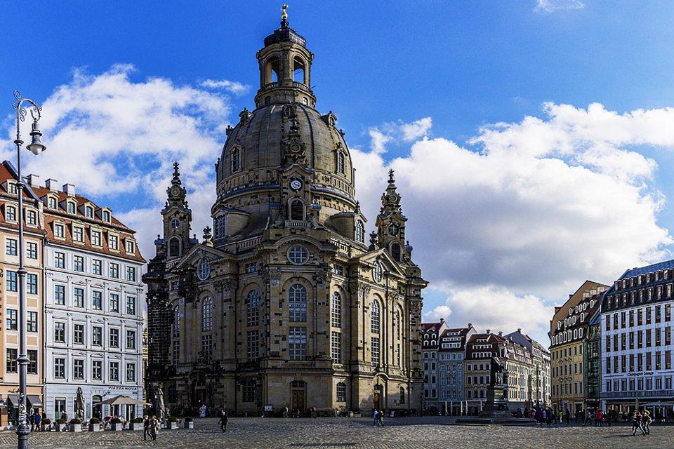 Frauenkirch in Dresden, Duitsland