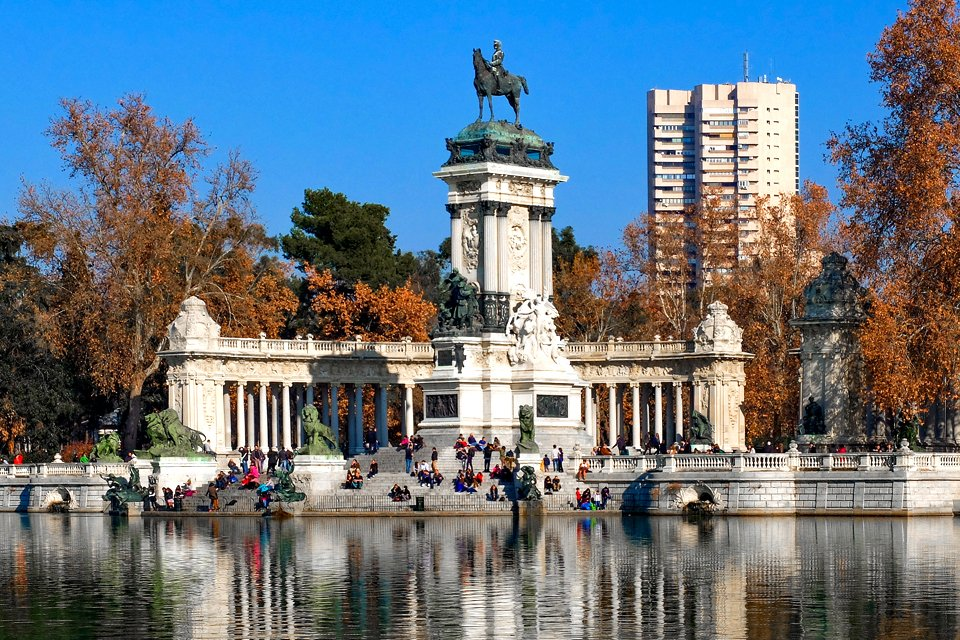 Retiro-park in Madrid, Spanje