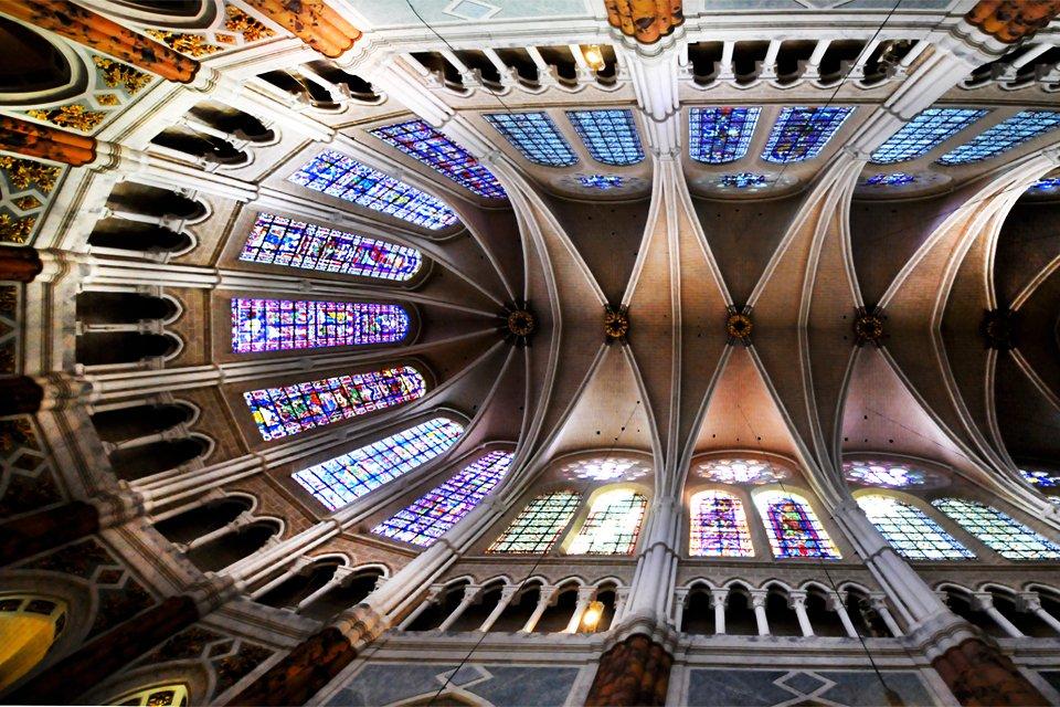 Plafond van de kathedraal van Chartres, Frankrijk