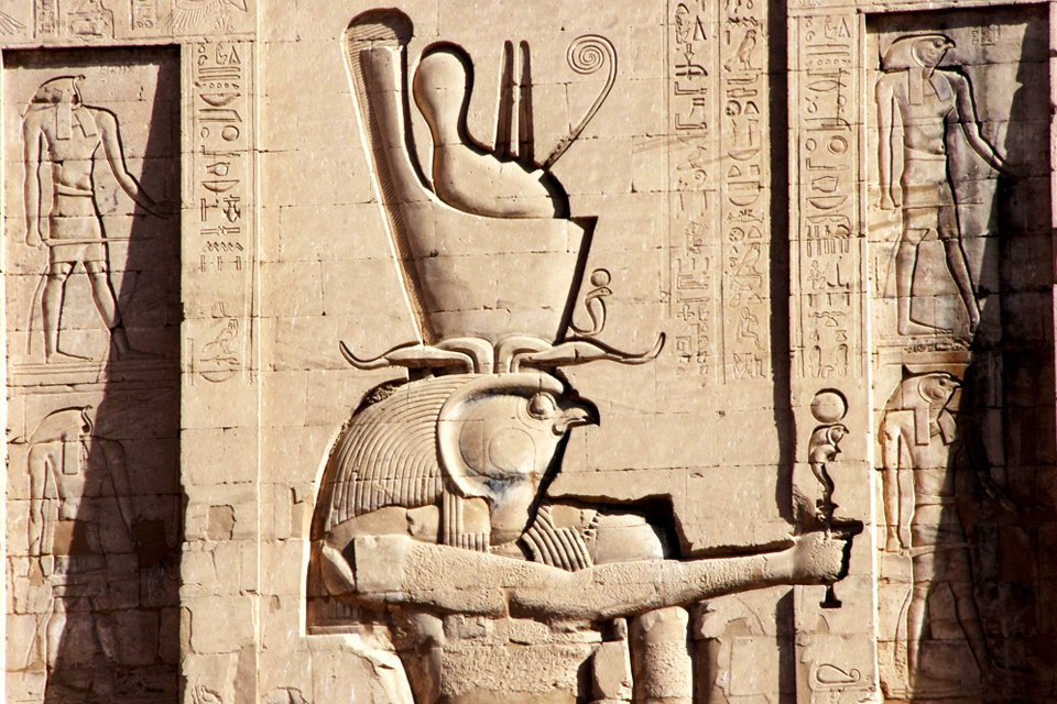 Tempel van Horus in Edfu, Egypte