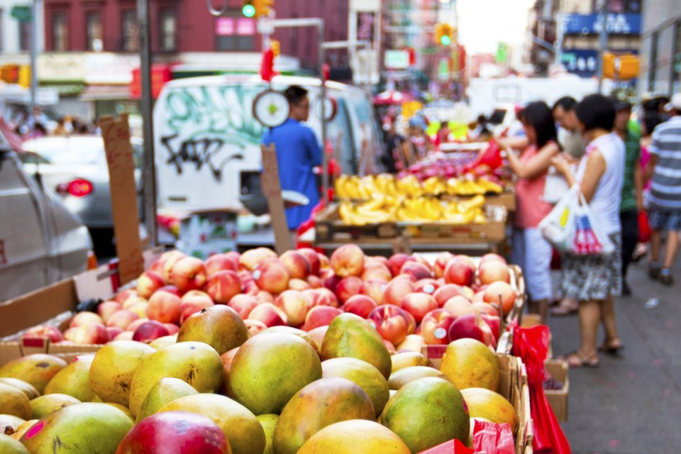 Markt in New York, Amerika