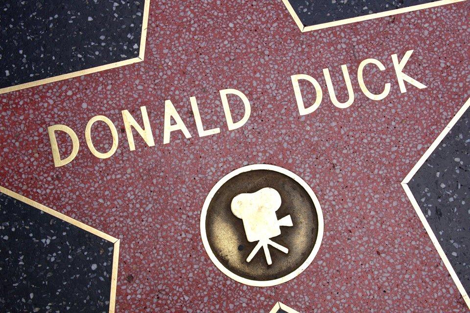 Donald Duck op Walk of Fame, Amerika