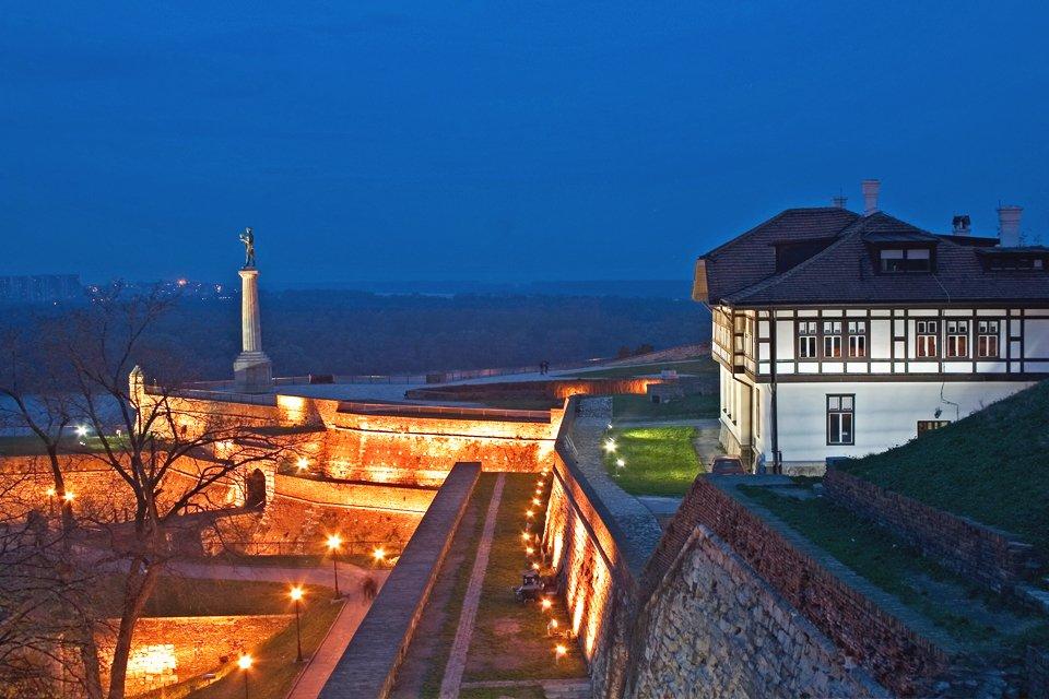 Kalemegdan-fort in Belgrado, Servië