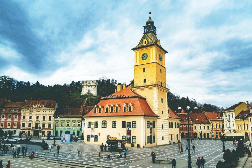 Stadsplein in Brasov, Roemenië