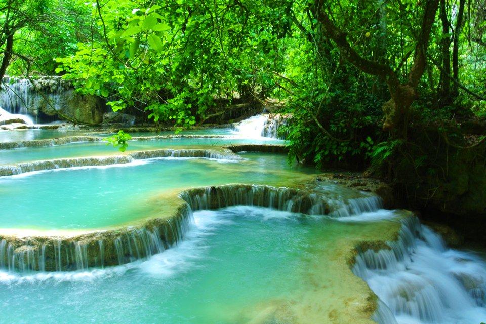Watervallen, Laos