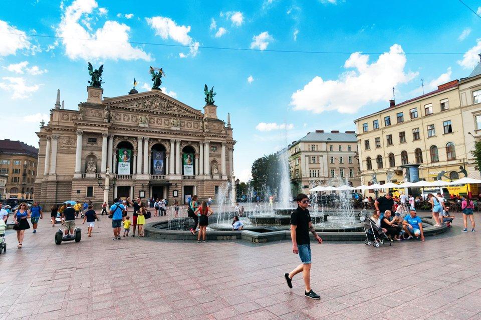 Theater in Lviv, Oekraïne