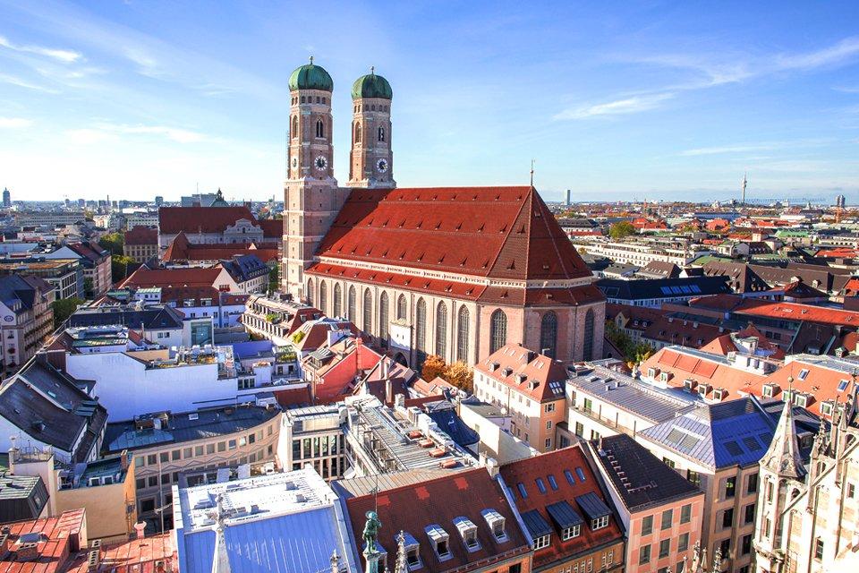 De Frauenkirche in München, Duitsland