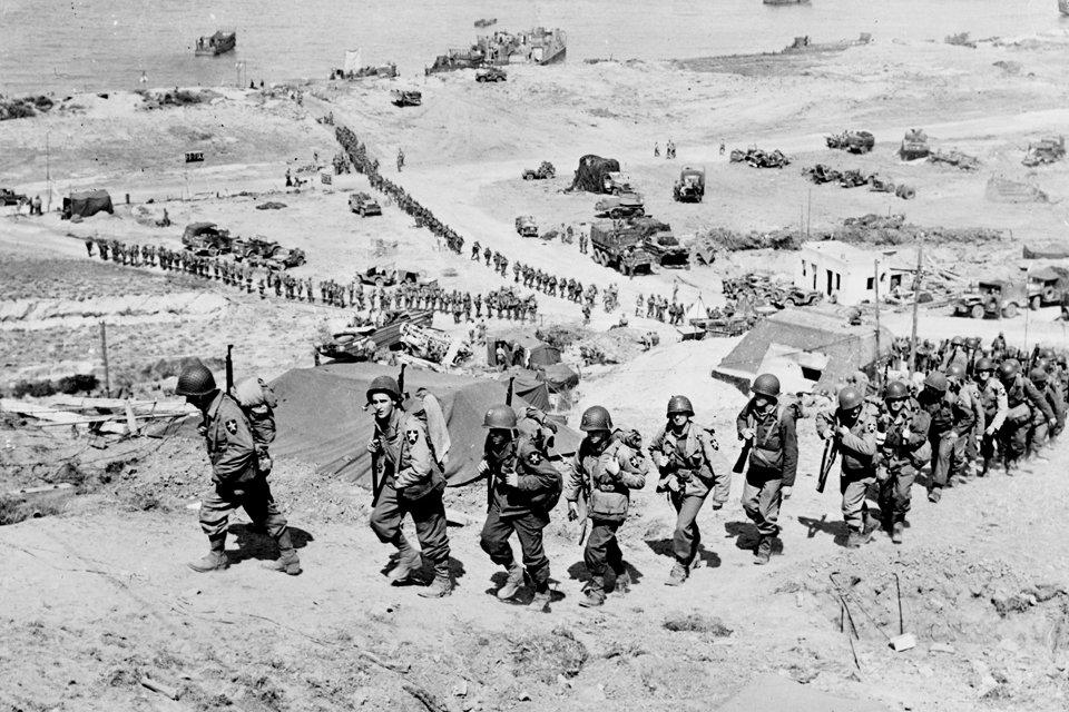 Omaha Beach op 7 juni 1944, D-Day Normandië