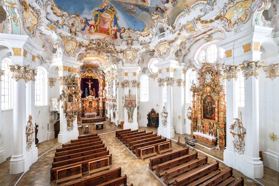 De Wieskirche, een monument van de rococo, Duitsland