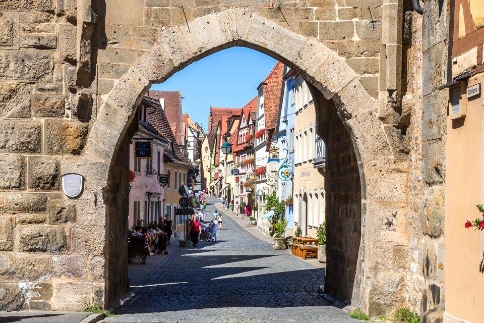Stadspoort in Rothenburg, Duitsland